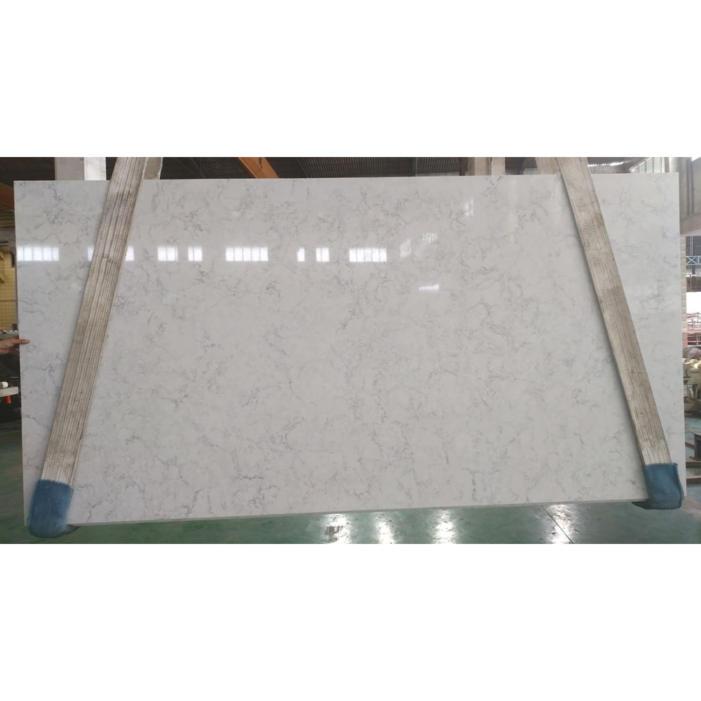 SH7001 Wholesale Home Decoration Kitchen Galaxy Artificial White Quartz Stone Slab Price,White Quartz Slabs,White Quartz Stone