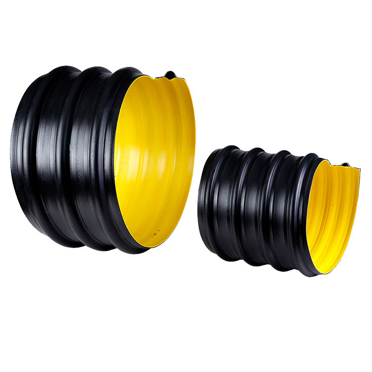 110mm-1200mm Hdpe plastic corrugated pipe multi-layers steel wire reinforced composite hdpe pipe for underground drainage