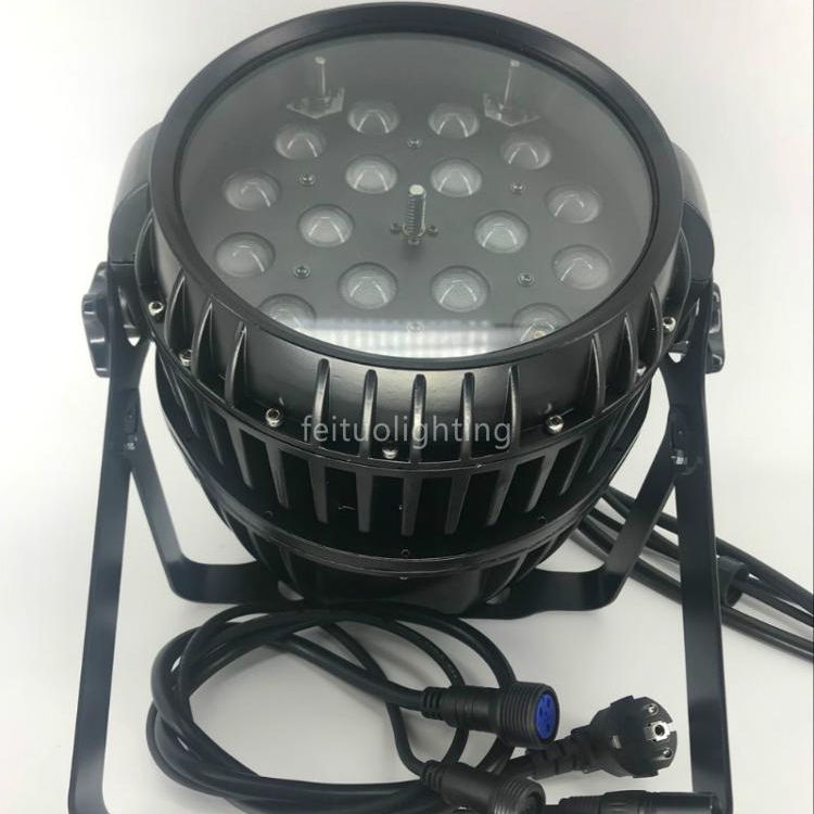 Extérieur Lumineux superbe a mené la lumière d'étape de zoom 18x18 w RGBWA UV 6IN1 de Pair du Bourdonnement led IP65 Imperméable le pair Peut DMX L'éclairage Disco De DJ