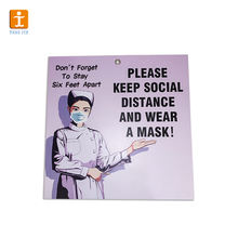 Please keep social distance notice Wall Sticker Decal Sign