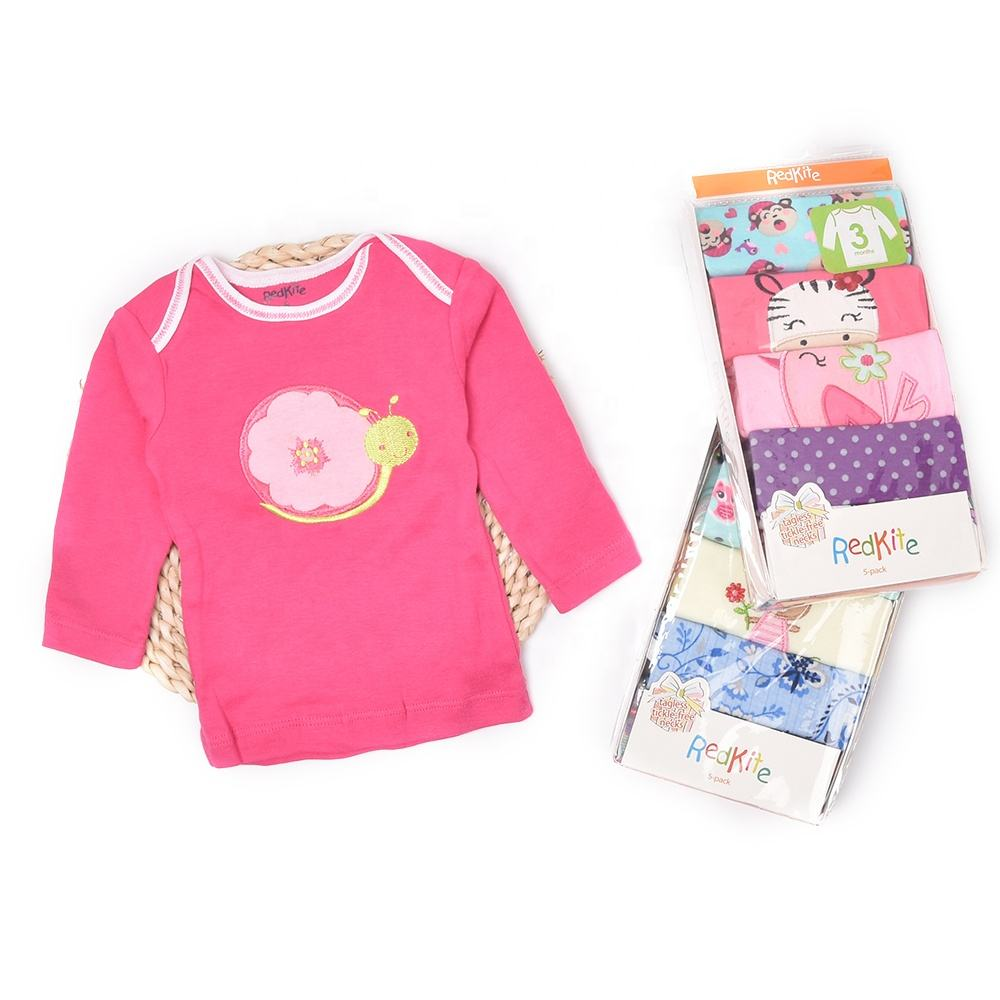 Hot sale animal designs long Sleeve Boys Baby Girls Tops cotton children's Clothes Kids T-shirt