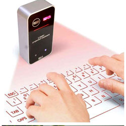 Mini portable laser keyboard projector virtual laser project