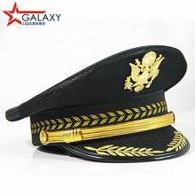 Wholesale High Quality Black Military Caps Police Military Supplies