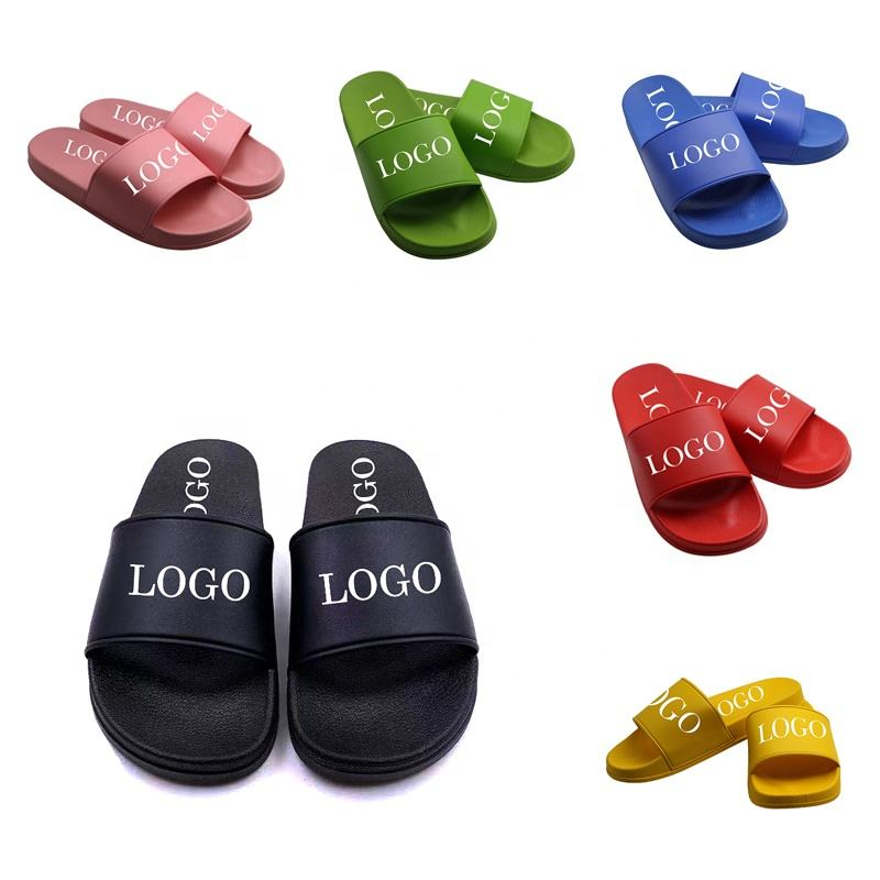 Graphic Customization [ Men Slides Slippers ] Woman Slide Slipper Wholesale Factory Price Black Unisex Men Women Custom Logo Blank Slides Slippers Footwear