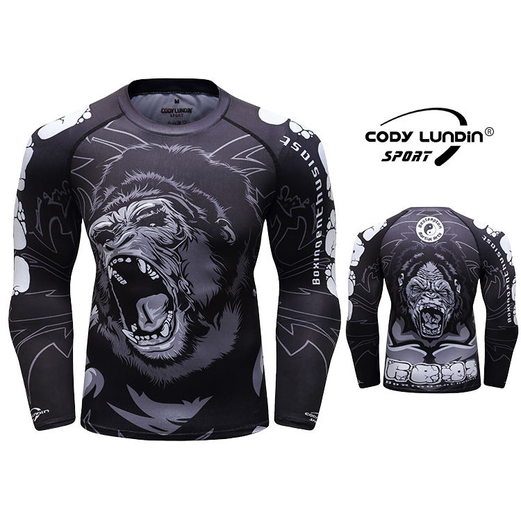 Custom printed rash guard sublimation printed rashguard mma rushguard bjj