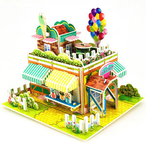 Nice Colorful Assemble Paper Factory High Quality 3D Puzzle Model Jigsaw Puzzle