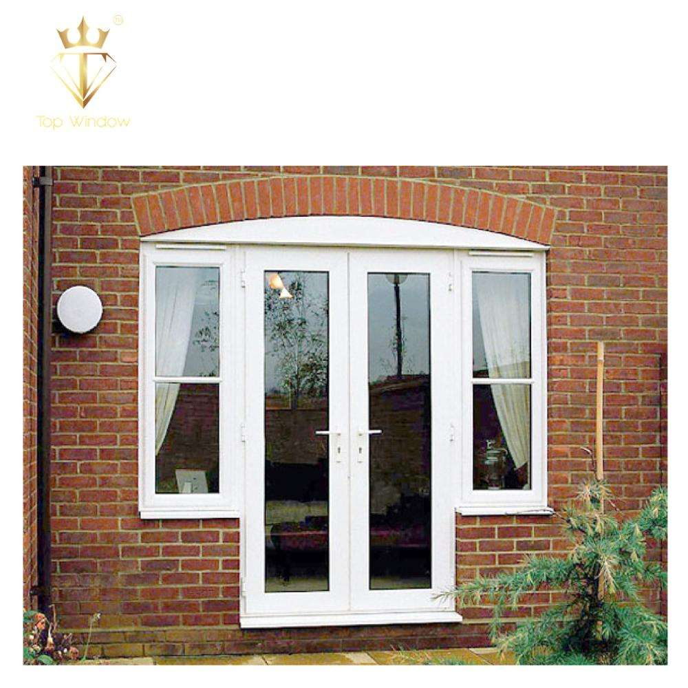 High Quality Frame Mosquito Net Brown Slide Jalousie Upvc Perfiles Round Window / Round Opening Window Pvc Windows And Doors