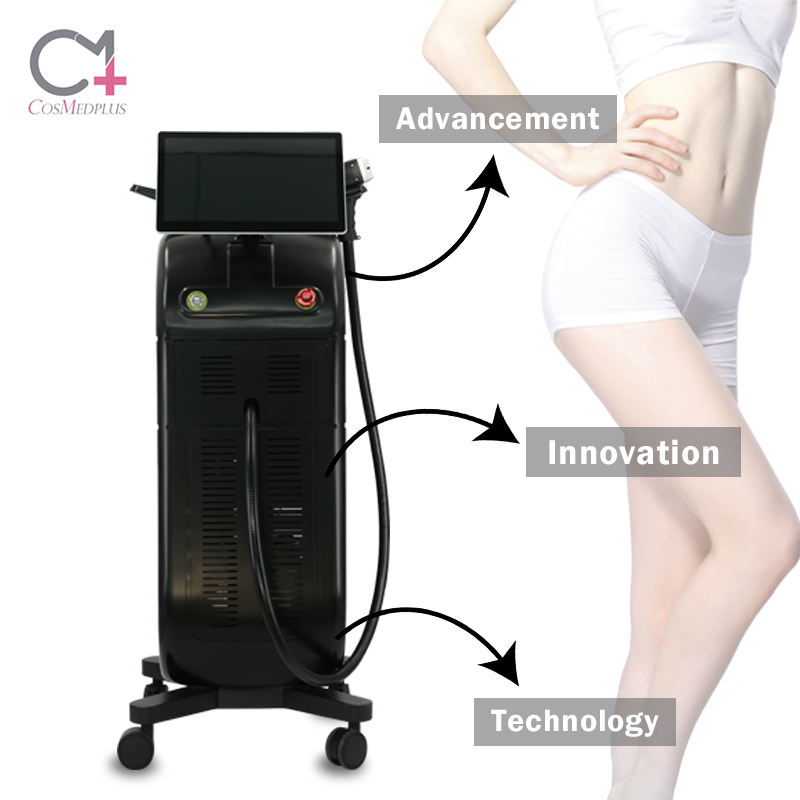 Modern Design 15.6 inch color touch android screen 3 Wavelength Medical 808nm body hair removal laser Equipment