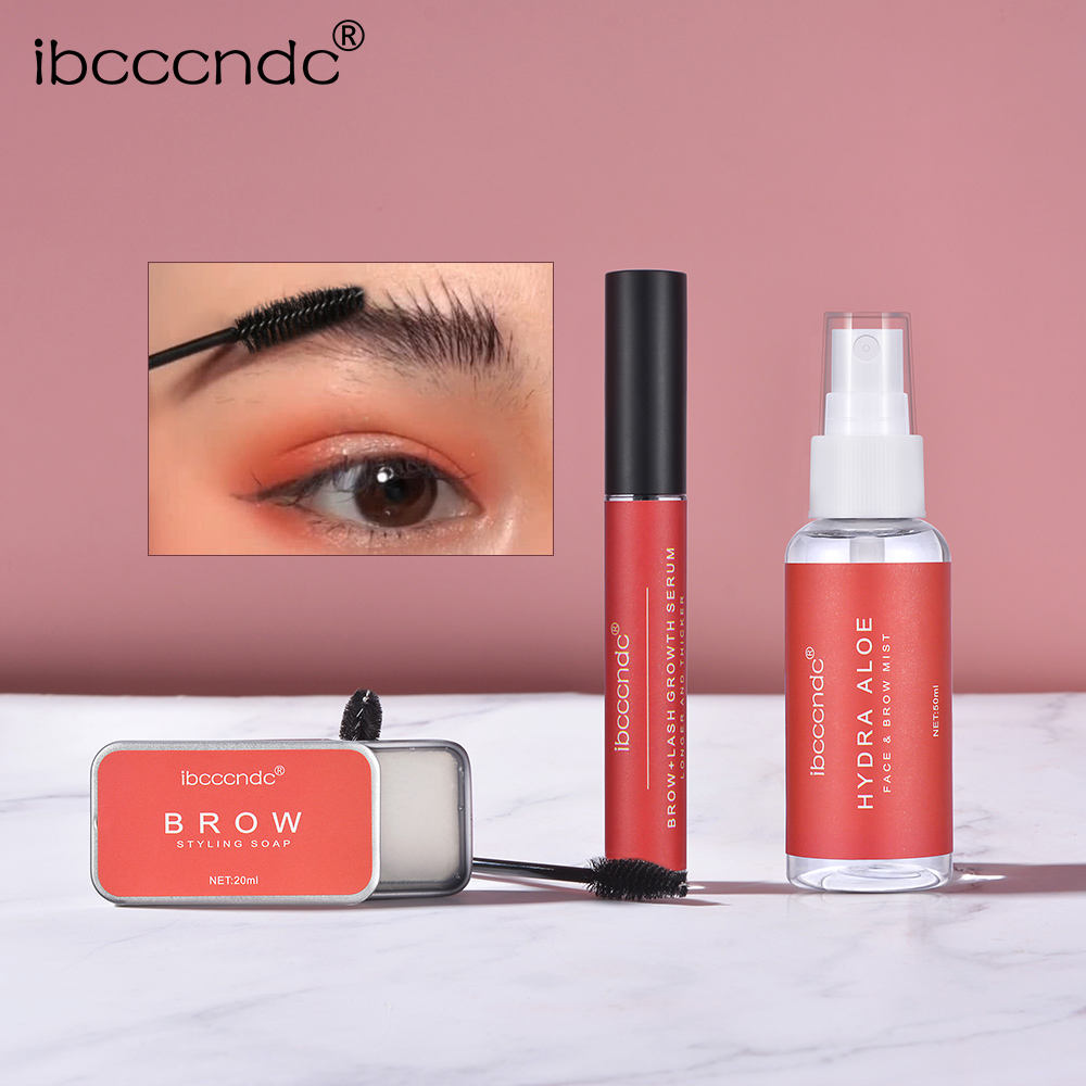 IBCCCNDC Brow Soap Kit Aloe Face Mist Spray and Lash Growth Serum Clear Bundle Makeup
