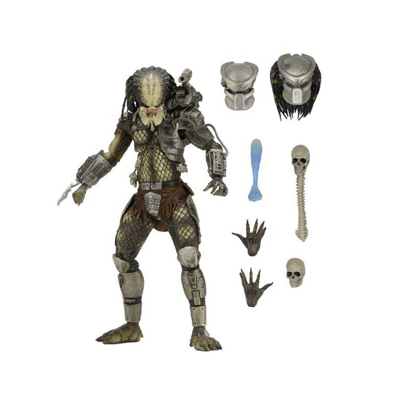 7 inch NECA Predator P1 Jungle hunter 2.0 Action Figure Toys Deluxe Edition Articulated joints moveable Figure Vinyl Doll Model
