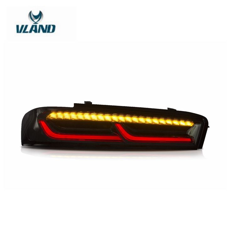VLAND manufacturer for car tail lamp for Camaro taillight 2016 2017 for Camaro back lamp with moving signal+DRL+ reverse light