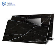 Glossy Dark marble look 1200x600 mm polished glazed porcelain floor tiles