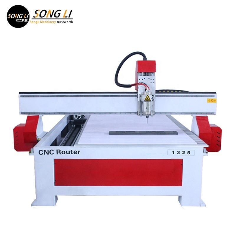 SongLi brand Low sales 4 axis 1325 Woodworking Carving machine 3D cnc router for sculpture with cylinder rotary