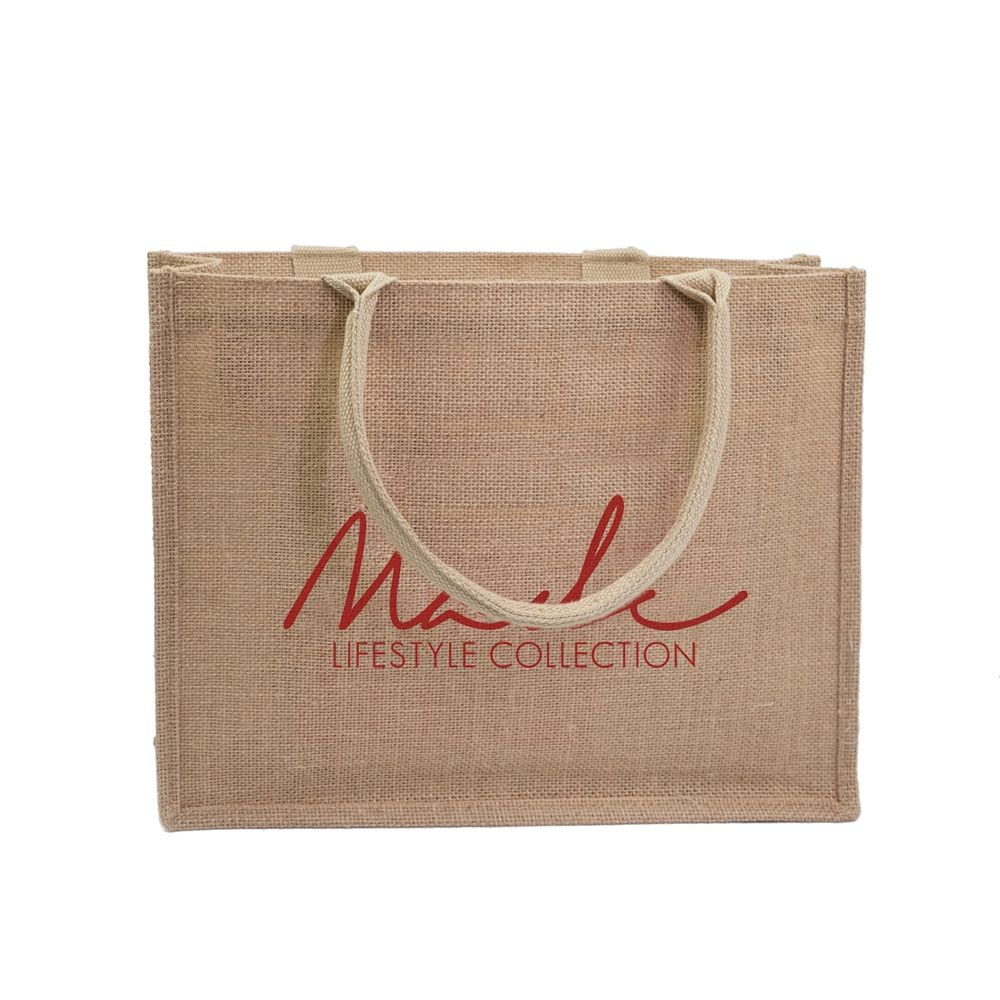 burlap beach tote gift packaging jute shopping bag personalized jute bags