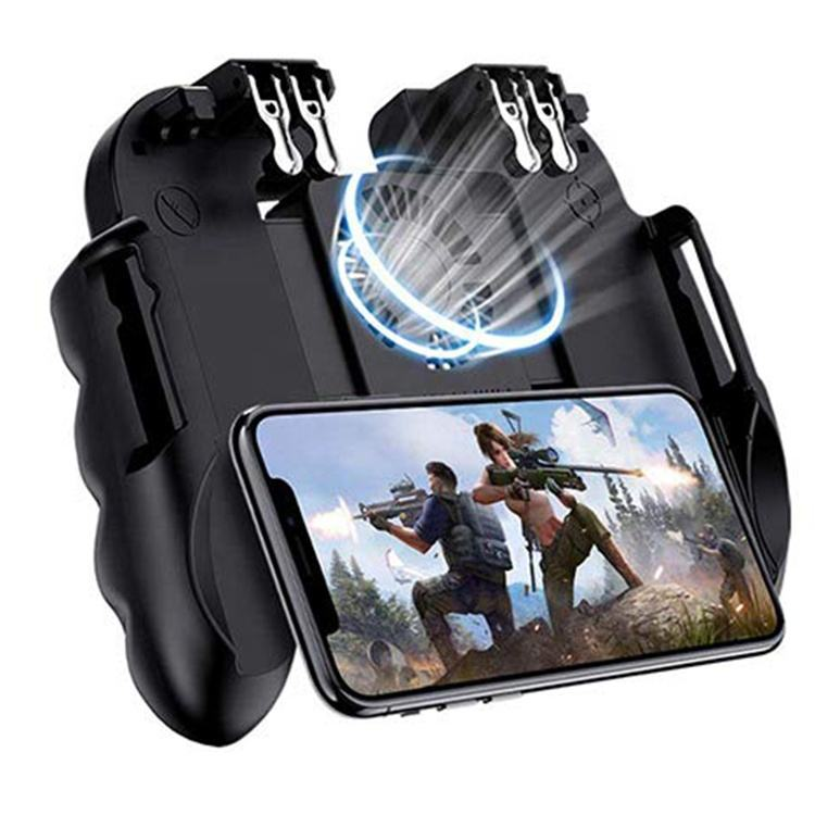 2019 Baru Upgrade H9 Wireless 6 Operasi Jari Mobile Game Joystick dengan Silent Cooling Fan Universal Gamepad Pegangan