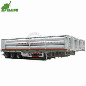3 Axle 40ft 10 Bundle Tube Skid Container CNG Tube Tank Semitrailer