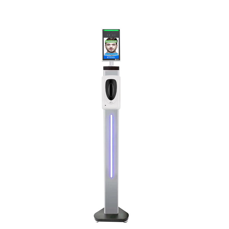 Automated digital 8 inch face recognition kiosk with 80/110cm stand