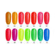 Colored Nail 14 Colors Uv Gel Nail Yidingcheng Factory New Neon Glitter Shining Colored Uv Gel Polish Soak Off Led Uv Nail For Summer