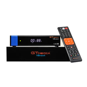 Hot 2019 GTmedia V8 NOVA Blue PowerVu BissKey Auto Roll FTA Decoder Satellite Receiver With Built-In Wifi Support IPTV CCCam