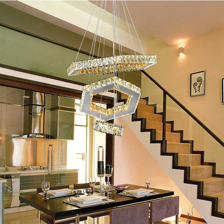 Luxury Designer Modern Style Decorative Hanging Crystal Led Ceiling Pendent Pendant Lamp Light