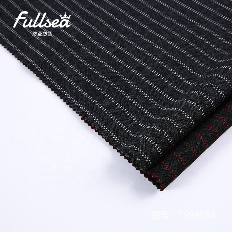 Soft polyester rayon spandex fabric garment jacquard knitting fiber-dyed fabric