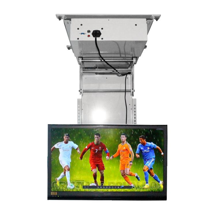 Smart hidden ceiling drop down motorized TV lift system mechanism with 40-70 inch TV mount