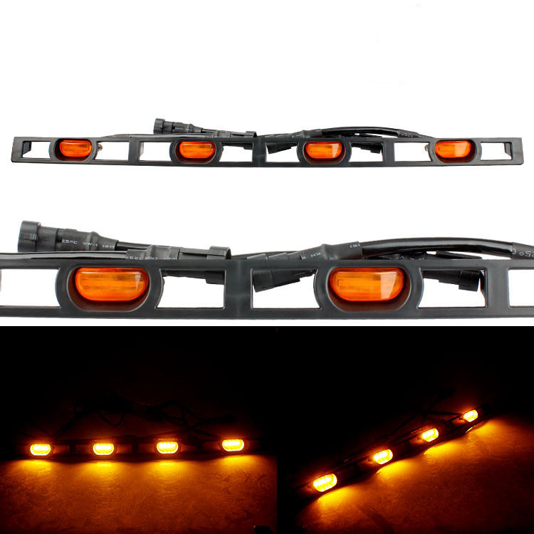 4 PCS Set Amber Led Strip Grille Lights For Car Toyota Tacoma 2012-2015 LED Light For Front Bumper Grille Car Parts