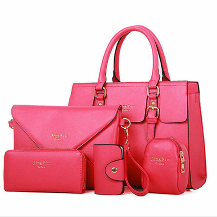 tote designer handbags sets 6pcs ladies handbags women bags pu leather Shoulder handbag for women custom