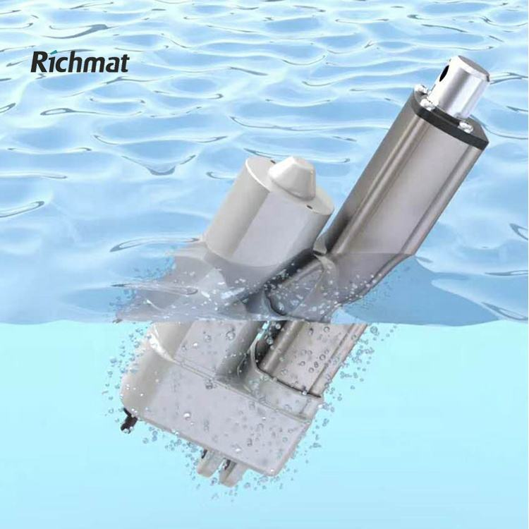 Richmat 12V 24V Farm Waterproof ip66 ventilation Industrial medical bed motor single fast electric linear actuator for 12 volts