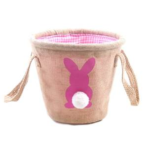 CFP G00011RTS กระต่ายเค้ก Topper Easter Jute Easter Bunny ตะกร้า