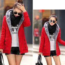 Thicker Autumn Winter Women Long Hooded Coat