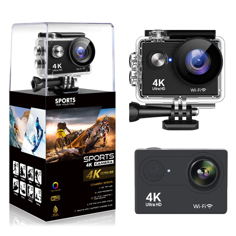 New Version AKASO 4K WiFi Camera Ultra HD Waterproof Sports Camera EKEN H9R Action Camera