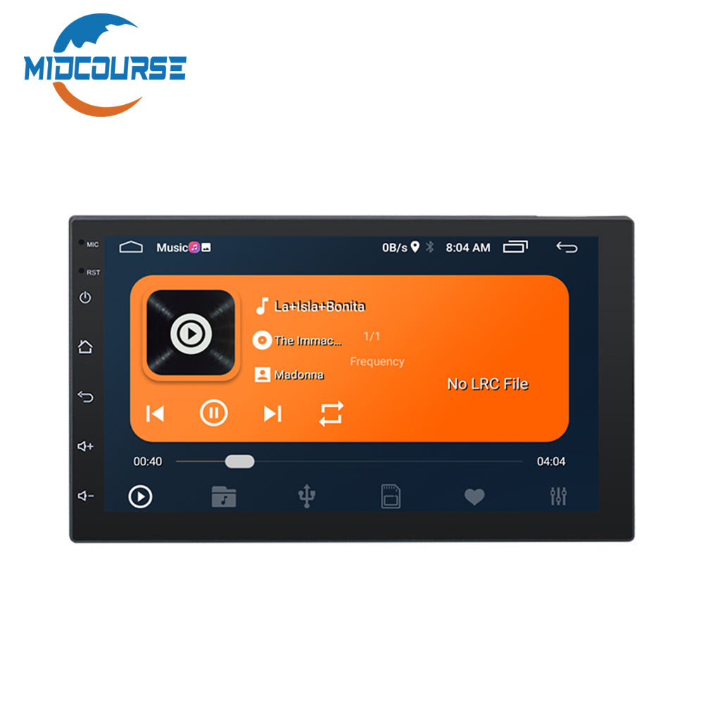 Android 10 Universal car 7 inch MP5 2 din format interface radio audio BT camera android car video player