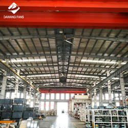 Low Power Consumption HVLS Industrial Big Ceiling Fans For A
