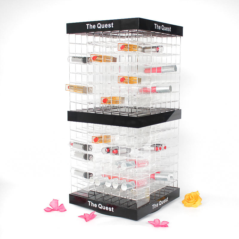 2020 Groothandel Acryl Lippenstift Houder Nieuwe Product Roterende Lippenstift Display Stand Met <span class=keywords><strong>Plastic</strong></span> Diamanten Spinning Lipstick <span class=keywords><strong>Toren</strong></span>