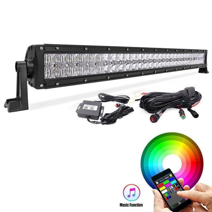 roof mount 4x4 5d RGB 52 inch led offroad light bars for car trucks