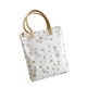 Natural Extra Large Pu Tote Bag with flower For Shopping