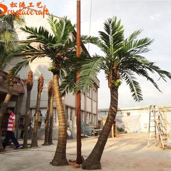 10ft life size life like artificial palm trees fiberglass artificial fake palm trees for sale