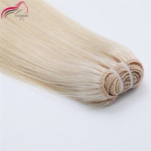 100% Virgin Human Cuticle Aligned Hair Weft Double Weft Human Hair Extensions Hair Weft 613