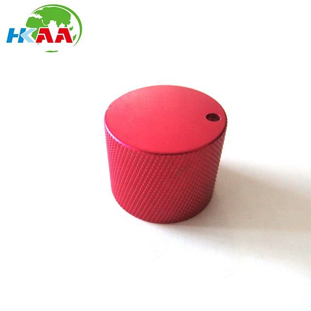 Customized red anodized nhôm điện tử guitar bass knobs