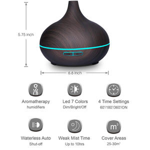 2020 essential oil diffuser 500ml cool mist with electric led light remote control ultrasonic aromatherapy aroma diffuser