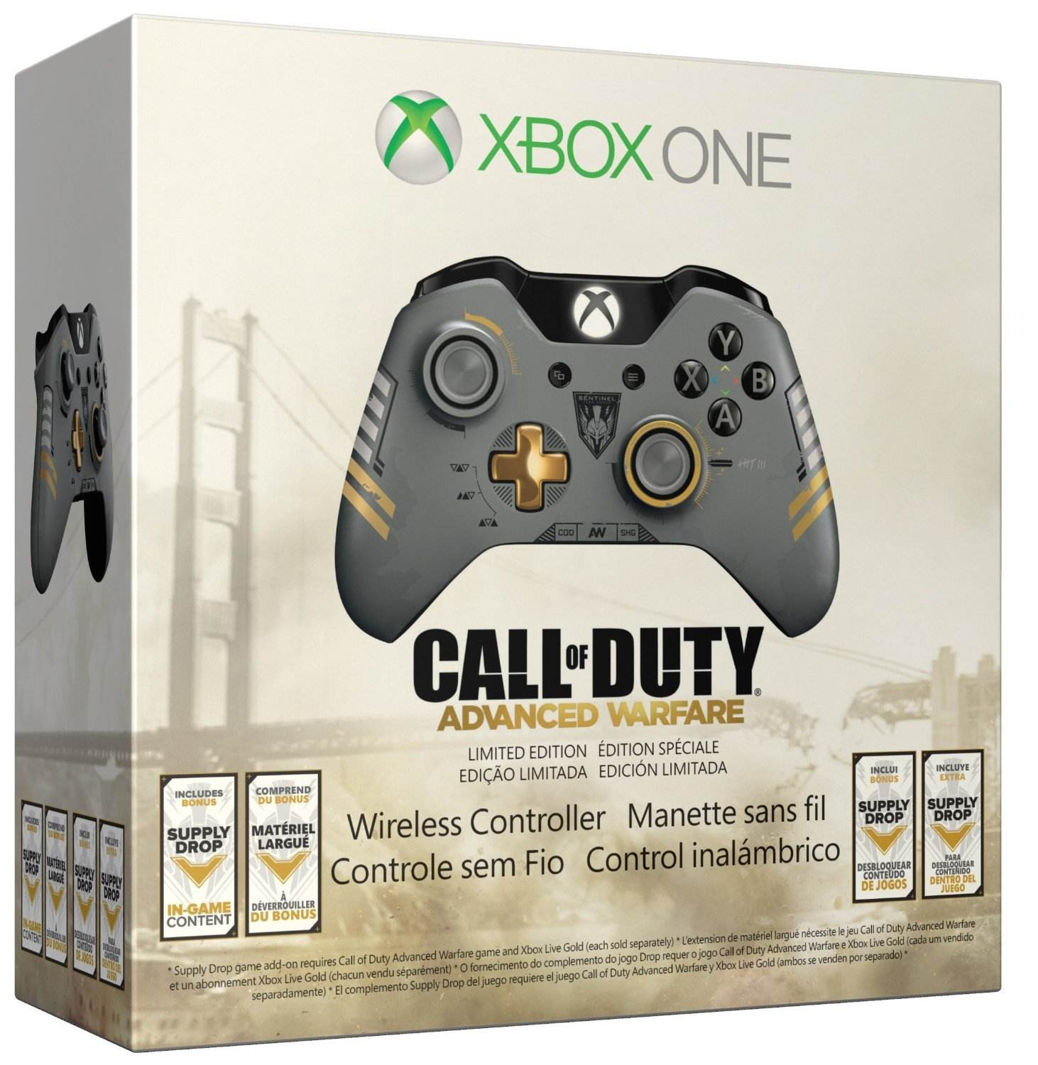 For Original Xbox One wireless game controller Limited Edition Call of Duty: Advanced Warfare Wireless Controller