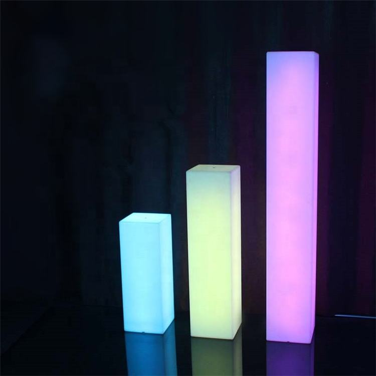 Beautiful decoration columnre rechargeable 16 color change plastic columns for weddings