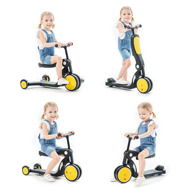 5 in 1 plastic mini tricycle kids balance bike slide kick scooter for baby