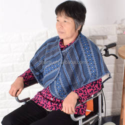 New design high quality shoulder used blanket help the elderly or the disabled keep warm when seat in the wheelchair