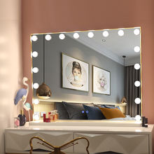 Tabletop Or Wall Mounted Makeup Vanity Mirror Hollywood Lighted Mirror