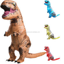 Dinosaur Inflatable Costume Dino cartoon characters fancy dress T-Rex Costume Inflatable costume mascots for Adults Kids