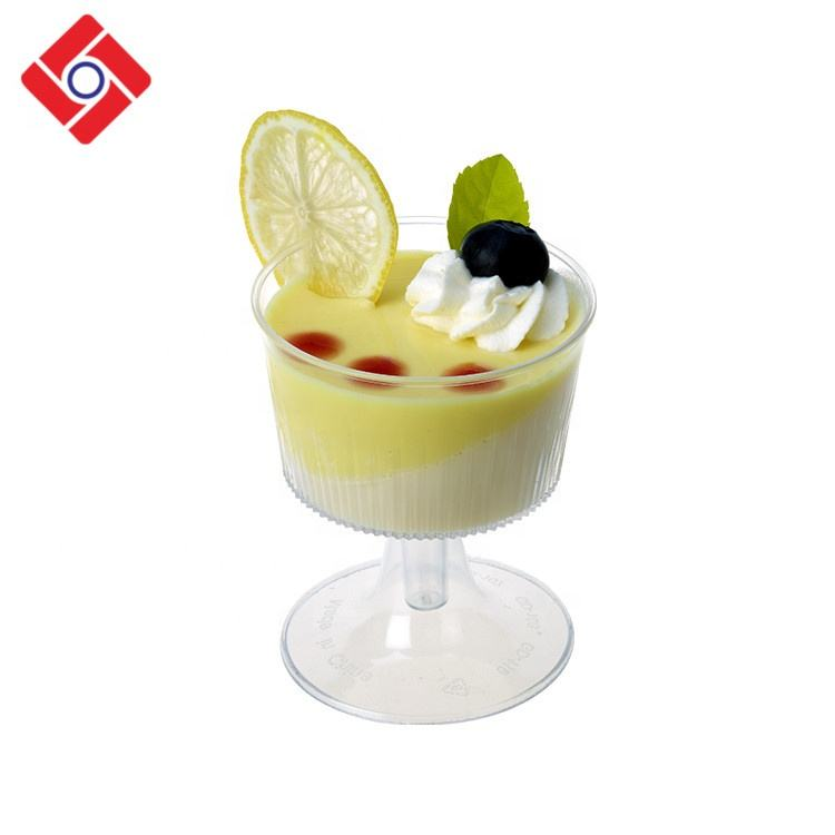 Fashion Design Disposable Pudding Jelly Fruit Cocktail In Plastic Cup,Plastic Wine Glasses