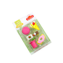 soododo Stationery Set Fast Food Series Dessert Eraser for Kids