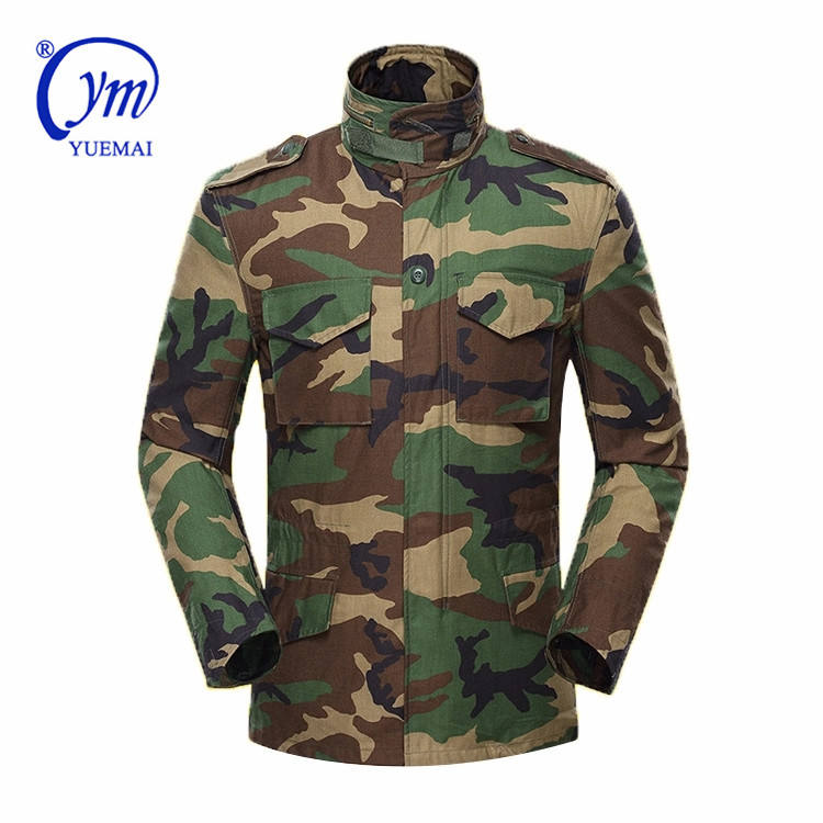 yuemai Military Green Jacket Mens Woodland M65 For Men camo uniforms Tactical Wholesale camouflage digital army uniform
